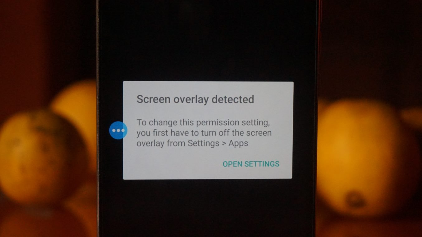 Screen Overlay Detected Error On Android