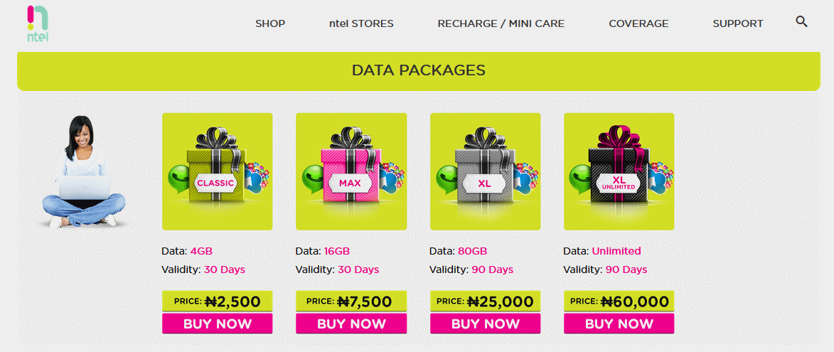 New nTel data plans and rates