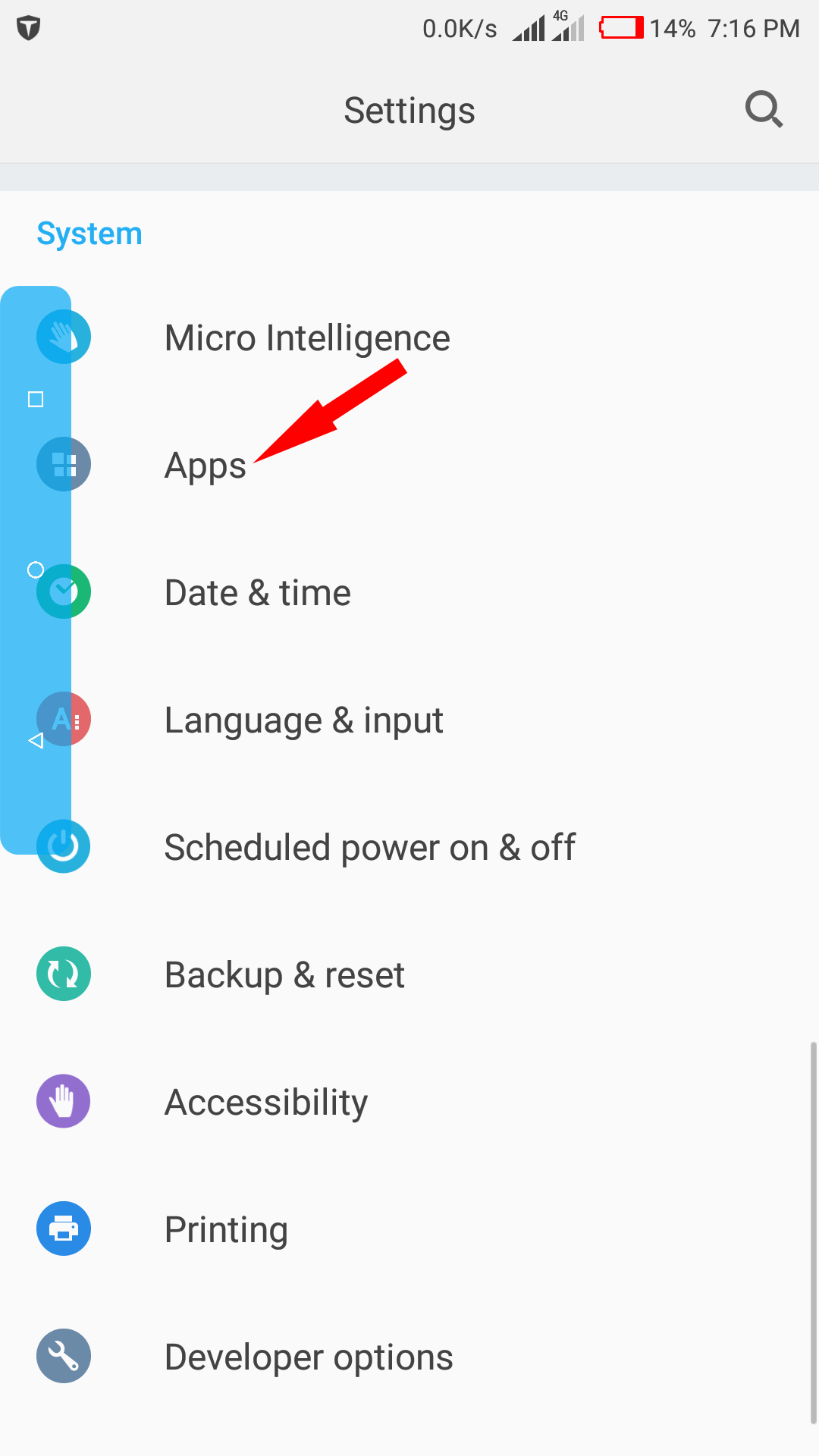 Apps available on Android phone