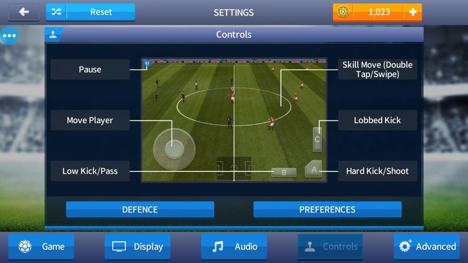 Dream league soccer 2017 game controls