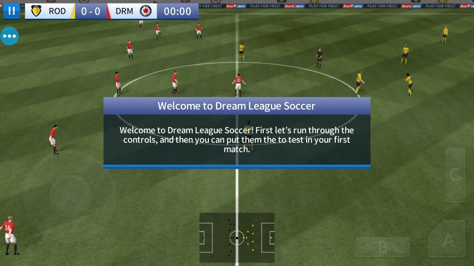 Game instructions in dream league 2017 soccer