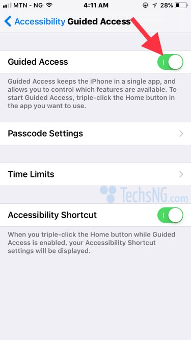 Activate guided access iPhone