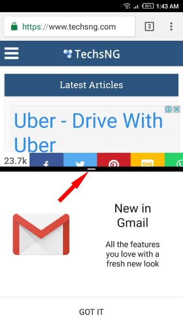 deactivate split screen multitasking on Android