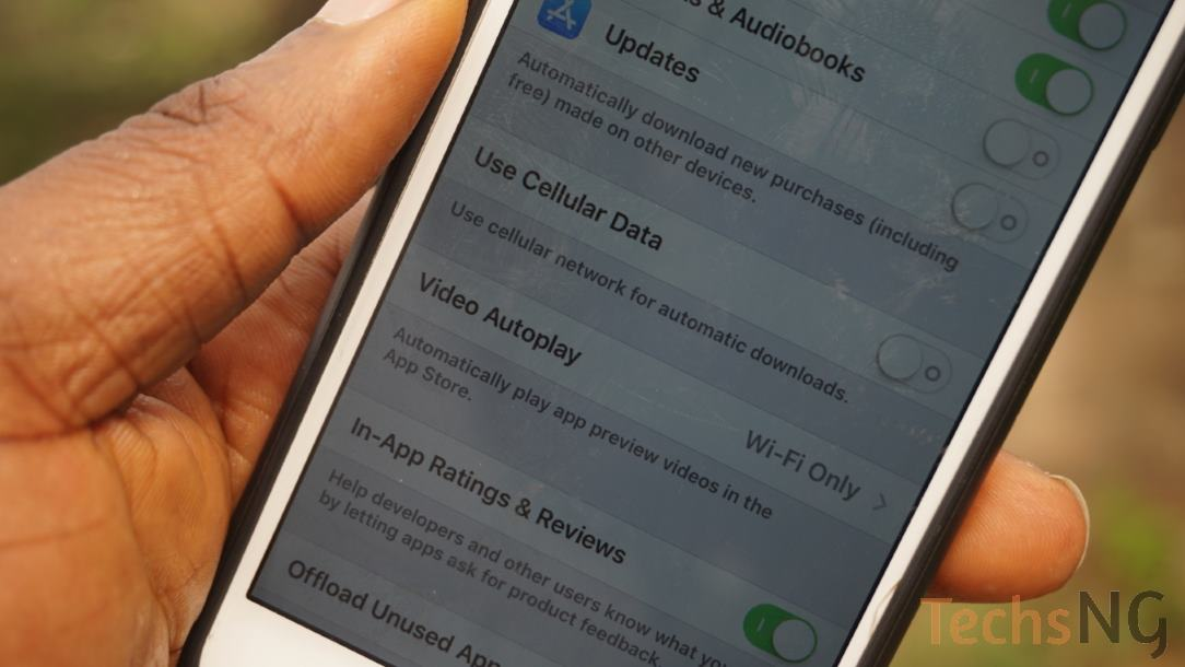 Control data usage on iPhone by disabling automatic downloads of apps
