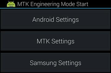 MTK engineering Mode settings