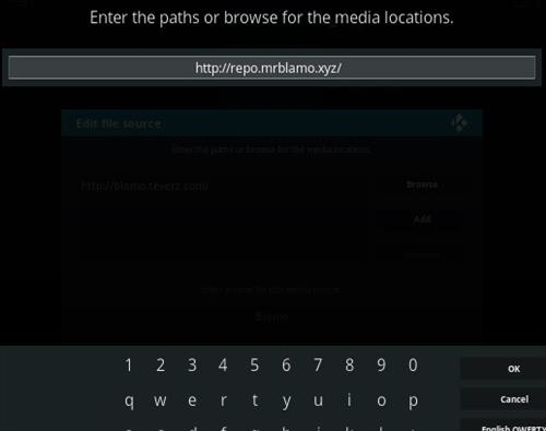 Input the neptune rising url into the address bar on kodi