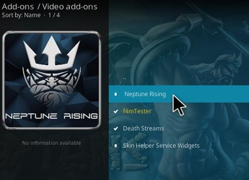 Successfully install Neptune rising add-on for kodi