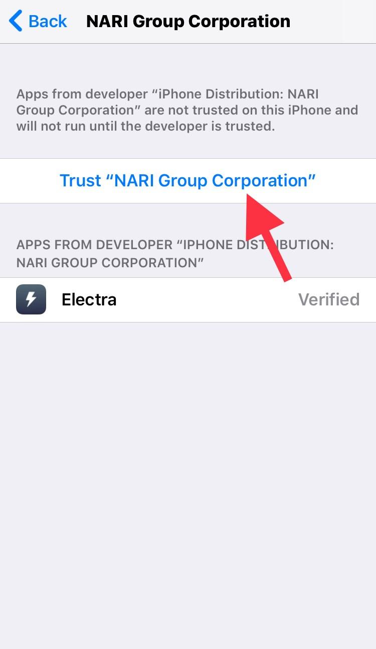 Trust NARI Group Corporation profile