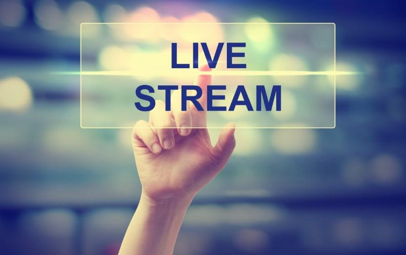 Live stream on social media profiles