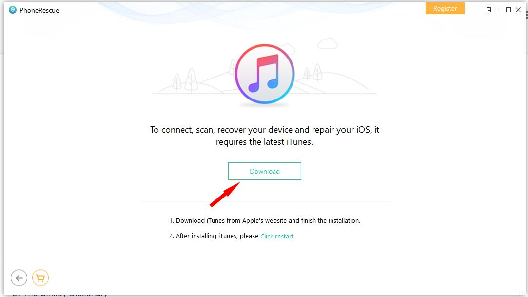 option to download iTunes
